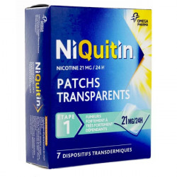 Niquitin patch anti tabac 21mg/24 h 7 patchs