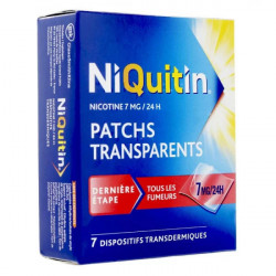 NIQUITIN 7 mg/24h, 7 patchs