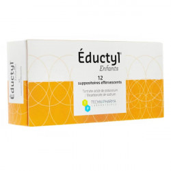Eductyl suppositoires enfants 12 suppositoires effervescents