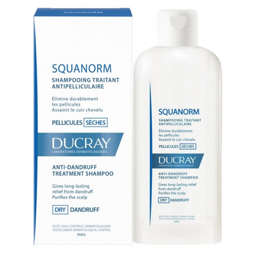 Ducray Squanorm Shampooing Traitant Antipelliculaire Pellicules Sèches 200ml