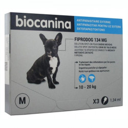 Biocanina Fiprodog 134 mg Solution Spot-On Chiens Moyens 3 Pipettes de 1,34 ml