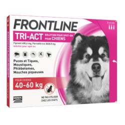 Frontline Tri Act spot on Très Grand Chien 40 - 60 kg 3 pipettes