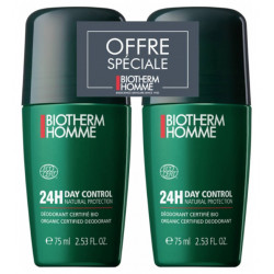 Biotherm Homme Day Control Natural Protect 24H Roll-On Lot de 2 x 75 ml