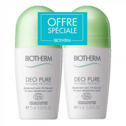 Biotherm Déo Pure Natural Protect Déodorant Soin 24H ROll-On Lot de 2 x 75 ml